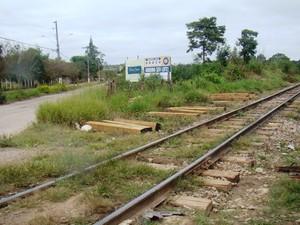 Linha férrea em Formiga (Foto: Prefeitura de Formiga/Divulgação)
