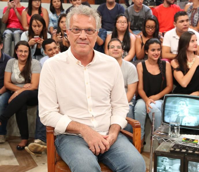 Pedro Bial participa do programa Altas Horas (Foto: Carol Caminha/Gshow)