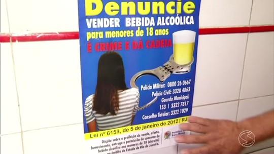 Ação fiscaliza venda de bebida alcoólica para menor em Barra Mansa