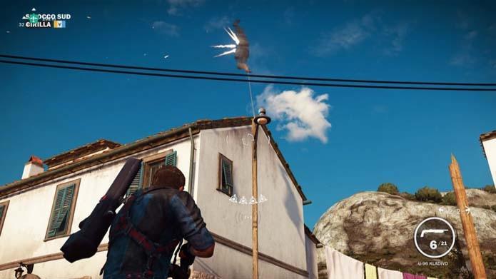Veja o personagem voar pelos ares (Foto: Reprodução/Murilo Molina)