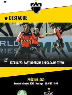 Aplicativo do Atlético-MG (Foto: Reprodução / Aplicativo do Galo)