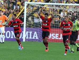 Hernane gol Flamengo x Criciúma (Foto: Fernando Ribeiro / Ag. Estado)