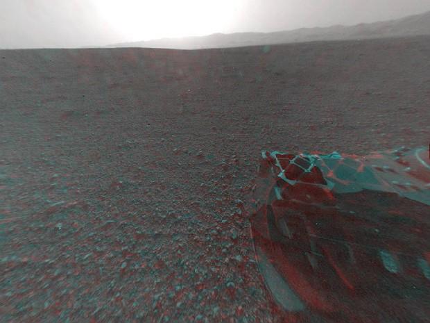 Trás Curiosity 3d marte (Foto: Nasa/JPL-Caltech)