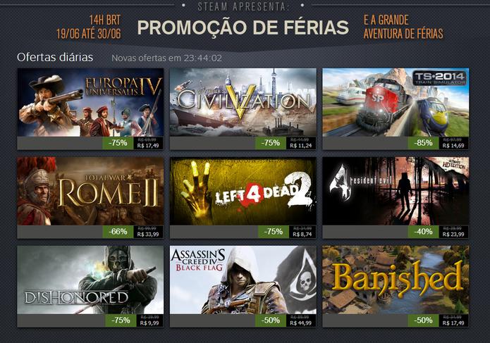Steam Summer Sale: Assassin´s Creed Black Flag e Dishonored entre as ofertas (Foto: Reprodução)