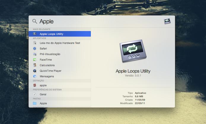 Busca inteligente do Spotify do Mac OS X Yosemite (Foto: Reprodução/Marvin Costa)