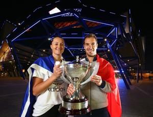 Richard Gasquet e Kristina Mladenovic vencem a Copa Hopman (Foto: Site oficial HopmanCup.com)