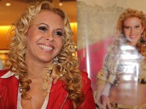 Joelma autografa cd em livraria (Foto: Milene Cardoso / AgNews)