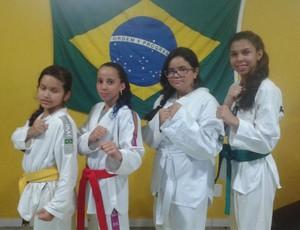 Atletas da Liga Rondoniense de Taekwondo (Foto: Junior San/ Arquivo pessoal)
