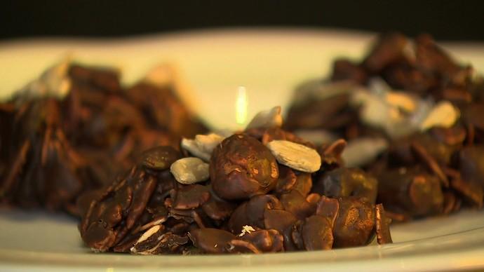 Passion Salad Montinhos de Chocolate Fit Quinoto de Cogumelos Fit Cozinheiras receitas fit Mariana Weckerle  Gabriela Penter Paulinha Moraes Mistura com Rodaika  (Foto: Reprodução/RBS TV)