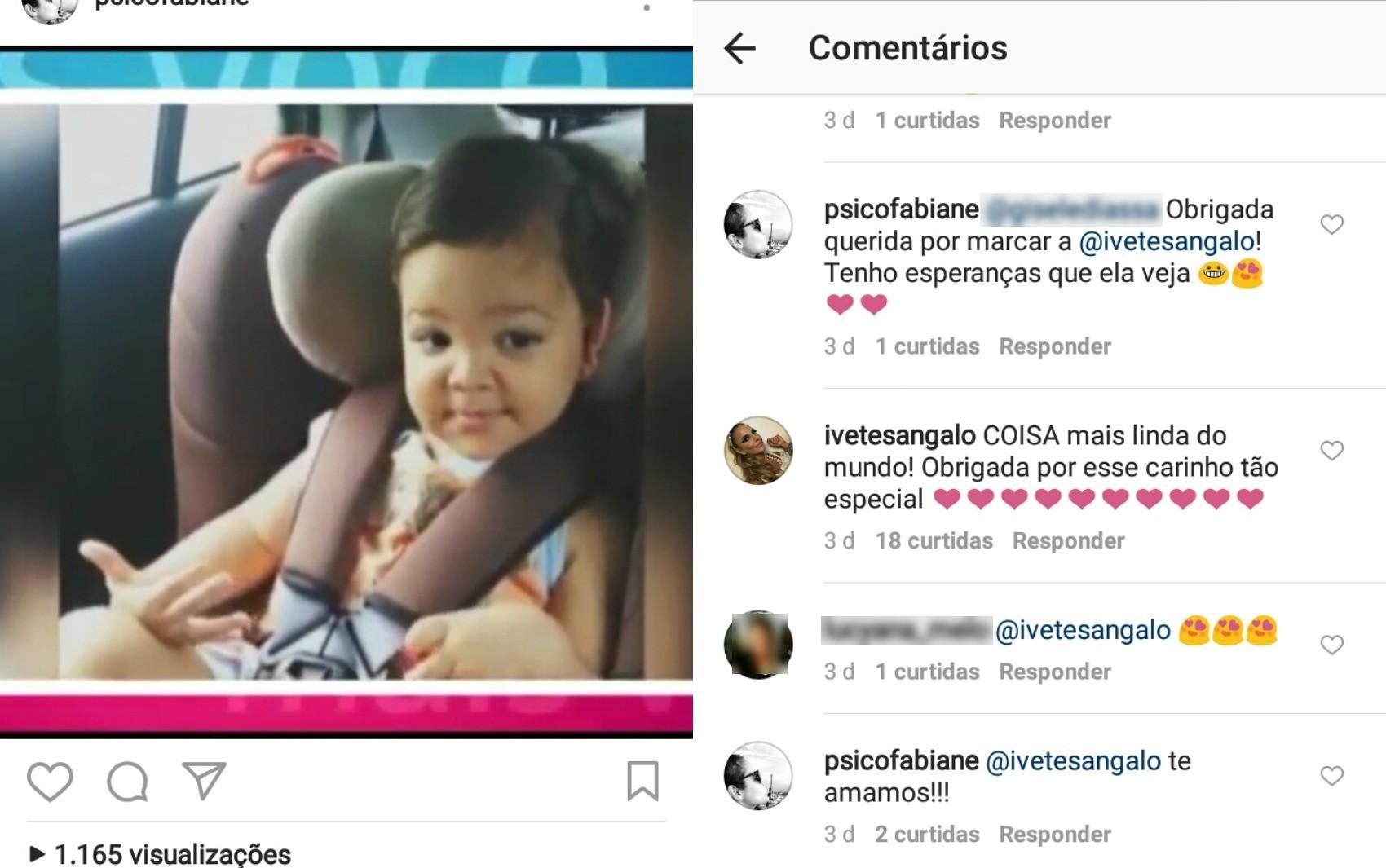 """Ivete Sangalo comentou postagem e vídeo de criança do AC dançando música """"Mais e Mais"""" viralizou  (Foto: Reprodução/Instagram)"""