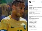 Neymar faz post no Instagram pedindo proteção antes de jogo