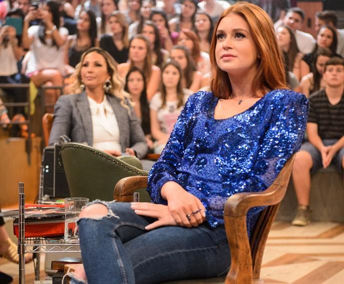 Marina Ruy Barbosa participa da gravação do programa Altas Horas (Foto: Globo/Ramón Vasconcelos)