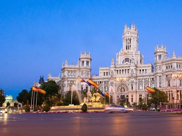 Palácio das Telecomunicações, na Praça de Cibeles, em Madri, Espanha (Foto: Visit Madrid/Divulgação)