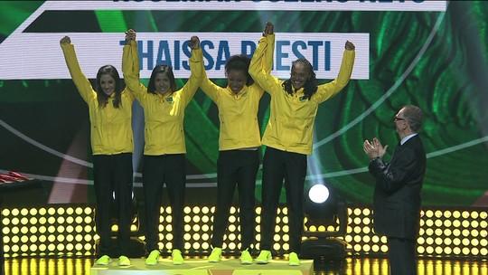 Brasileiras do 4x100m recebem bronze de Pequim no Prêmio Brasil Olímpico