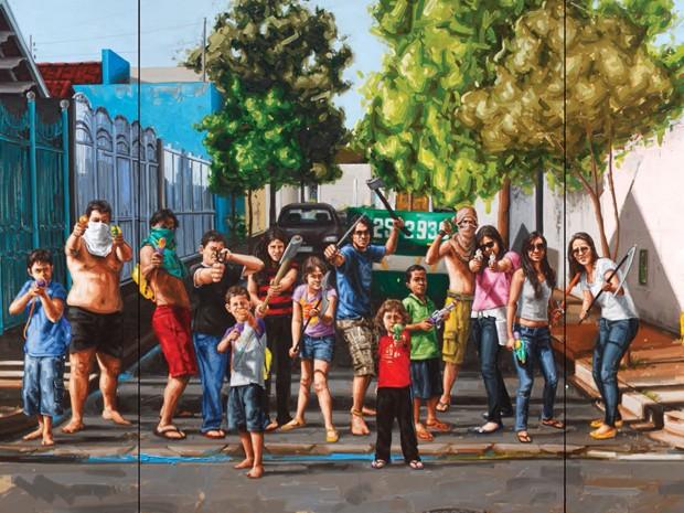 Temática foi inspirada por infância do artista no bairro Cássio Resende (Foto: Reprodução / Fábio Baroli)