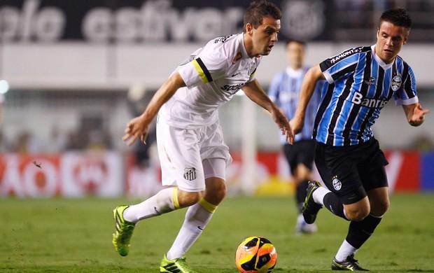 Montillo e Bressan Santos x Grêmio (Foto: Ricardo Saibun / Ag. Estado)
