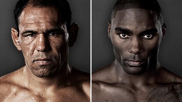 Montagem MMA Rogério Minotouro x Anthony Johnson (Foto: Reprodução/UFC)