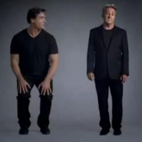 Ricardo Macchi e Dustin Hoffman em propaganda da Fiat (Foto: Reprodução da internet)