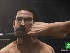 Imagem do novo jogo de UFC para o Xbox One, videogame da Microsoft lançado nesta terça-feira (21). (Foto: Reprodução)