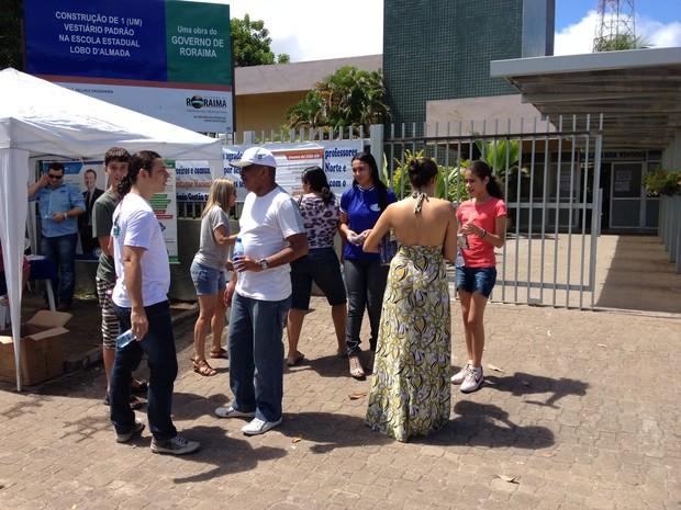 Provas foram realizadas na Escola Estadual Lobo D'Almada em Boa Vista (Foto: Rodrigo Menaros/G1)