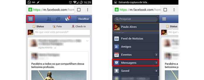 A função de chat fica na barra lateral (Foto: Reprodução/Paulo Alves) (Foto: A função de chat fica na barra lateral (Foto: Reprodução/Paulo Alves))