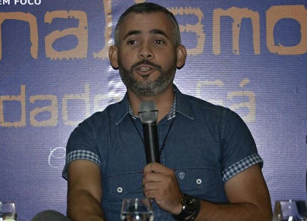 Renan Nunes durante participação no III Fórum de Jornalismo realizado em Picos-PI (Foto: Cidades em Foco)