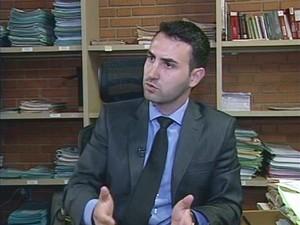 Promotor Eduardo Fantinati Campina Verde (Foto: Reprodução/TV Integração)