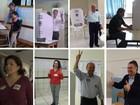 Oito candidatos ao governo de SC votam na manhã deste domingo