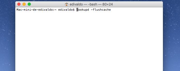 Recarregando o cache DNS em versões antigas do SO do Mac (Foto: Reprodução/Edivaldo Brito)