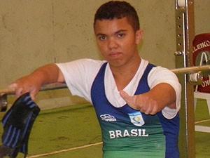 Lucas Elias do halterofilismo de Uberlândia (Foto: Divulgação/ Wéverton Santos)