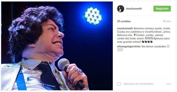 Mouhamed Harfouch lamenta morte de Cauby Peixoto (Foto: Reprodução/Instagram)