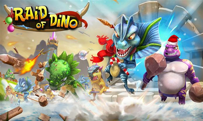 Raid of Dino é um game onde usuário deve criar uma vila para os dinossauros (Foto: Divulgação/Windows Phone Store)