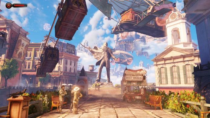 Bioshock Infinite apresenta o jogador à cidade de Columbia (Foto: Divulgação/2K Games)