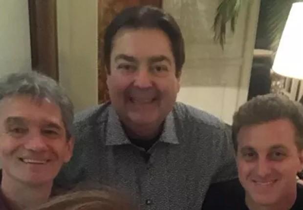 Serginho Groisman, Faustão e Luciano Huck (Foto: Reprodução/Instagram)