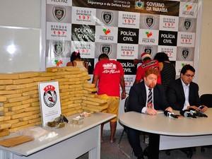 Polícia apreende 83 kg de maconha na Grande João Pessoa (Foto: Walter Rafael/Polícia Civil da PB)