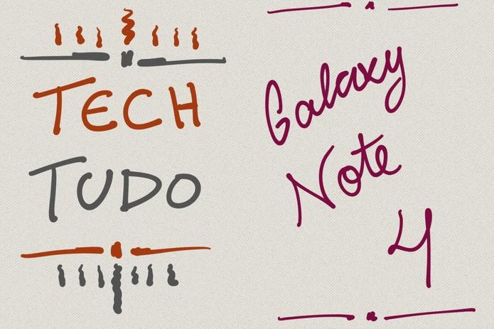 S-Pen em acão no S-Note do Galaxy Note 4 (Foto: Lucas Mendes/TechTudo)