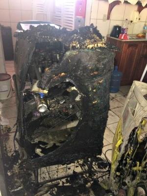 Associação do Corpo de Bombeiros também foi alvo de ataques  (Foto: Evely Dias/Arquivo pessoal)