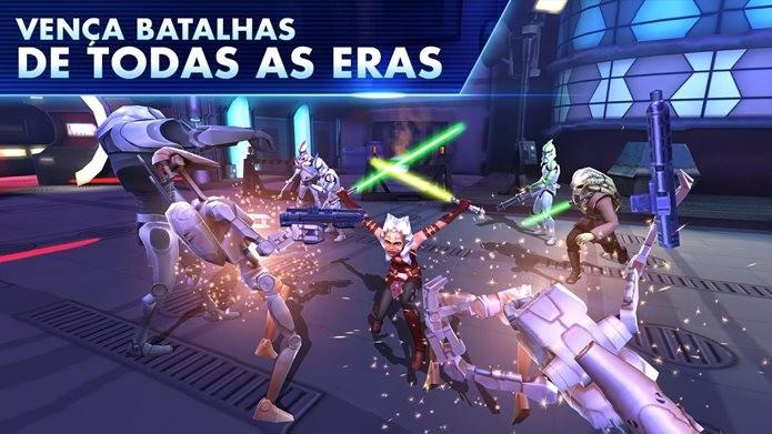 Game de Star Wars para iPhone e iPad conta com todos os personagens da franquia (Foto: Divulgação / EA Mobile)