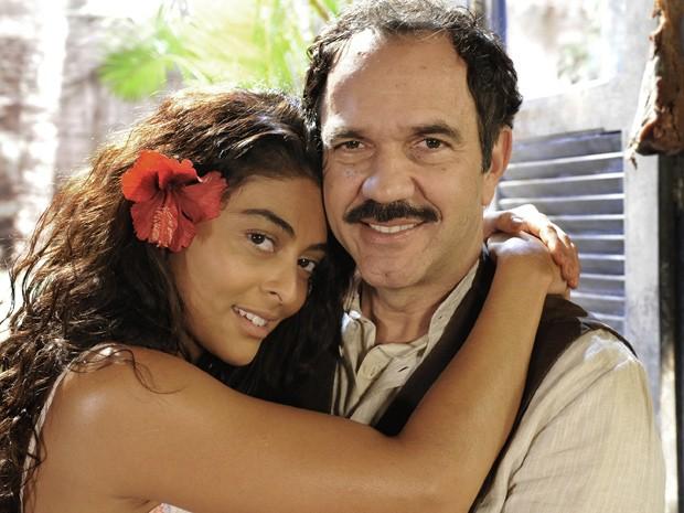 """Humberto Martins revela o porquê de tratar Gabriela como tem feito: """"Ele só que a rocinha de cacau"""" (Foto: Gabriela / TV Globo)"""