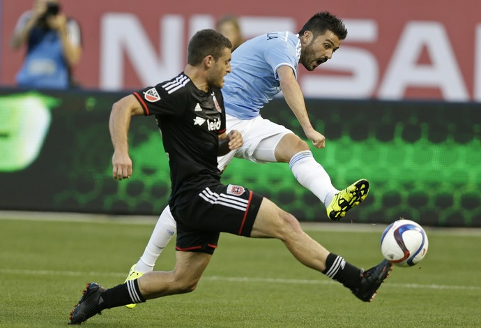 David Villa, New York City x D.C. United (Foto: AP Photo / Frank Franklin II)