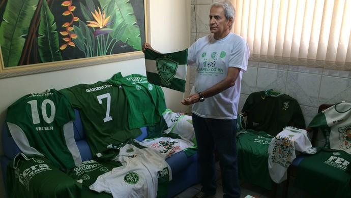 Alecrim 100 anos Normando Bezerra - torcedor do Alecrim- torcida Fera (Foto: Jocaff Souza/GloboEsporte.com)