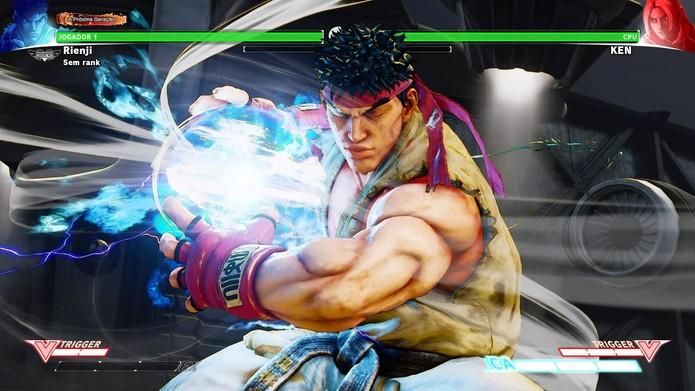 Shinkuu Hadouken no Street Fighter 5 (Foto: Reprodução/Felipe Vinha)