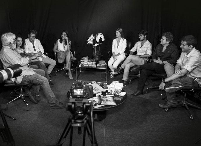 Fábio Assunção, Juliana Paes, Marina Ruy Barbosa e Felipe Simas falam sobre preparação para 'Totalmente Demais' (Foto: Inácio Moraes/Gshow)