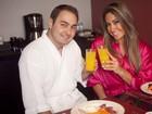 Mayra Cardi e o marido posam juntos para o Dia dos Namorados