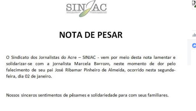 Jogadores, dirigentes, árbitros e ex-atletas postaram homenagens ao ex-árbitro José Ribamar (Foto: Reprodução/Facebook)