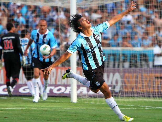 Marcelo Moreno comemora gol pelo Grêmio (Foto: Lucas Uebel/Divulgação, Grêmio)