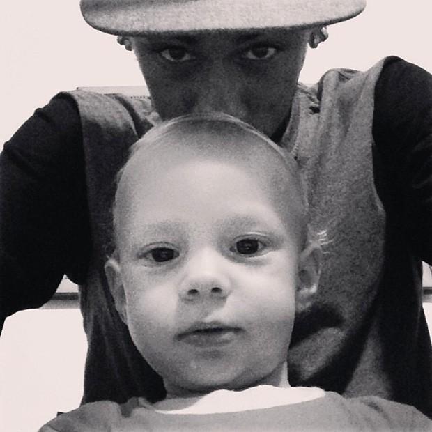 Neymar ao lado do filho (Foto: Reprodução / Instagram)