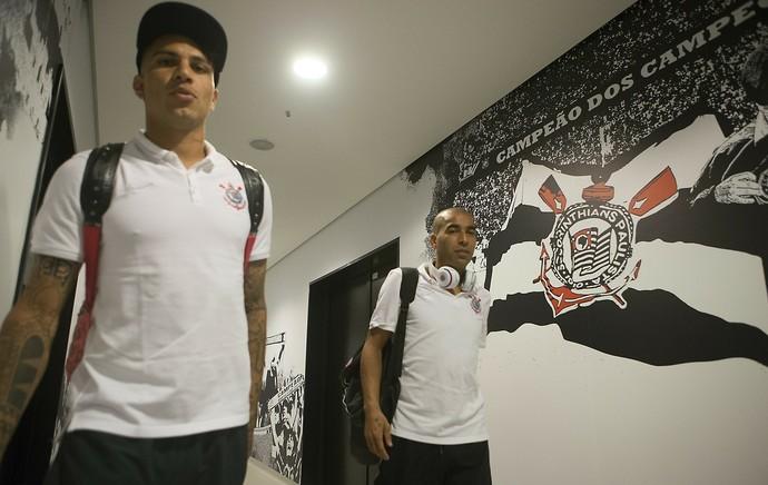 Emerson Sheik e Guerrero Corinthians (Foto: Daniel Augusto Jr/Ag. Corinthians)