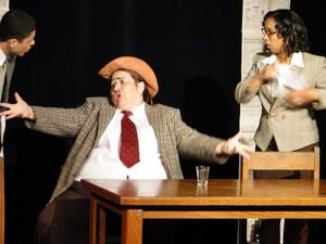 Bel Moraes atuando no Teatro do Kaos (Foto: Arquivo Pessoal/Bel Moraes)