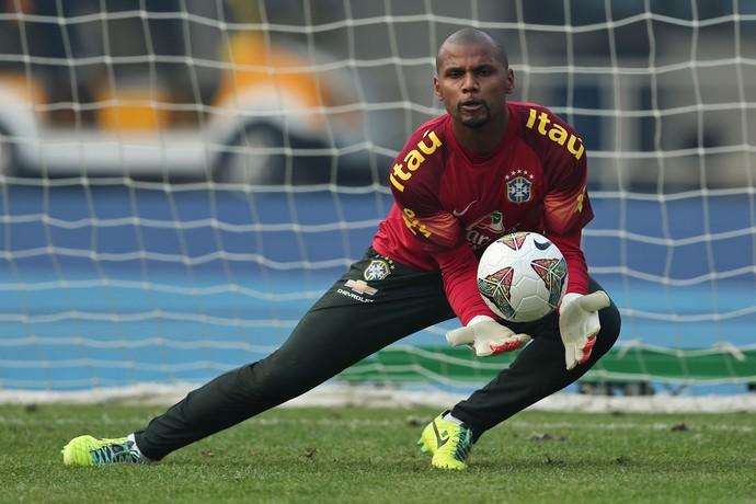jefferson treino seleção brasileira (Foto: Heuler Andrey/Mowa Press)